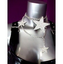 Rhinestone Versatile Star Necklace Belt