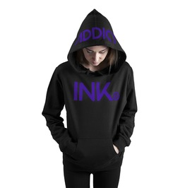 Ink Women's Lightweight Pullover Hoodie Black Purple