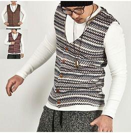 Colorful Bohemian Jacquard V Neck Vest