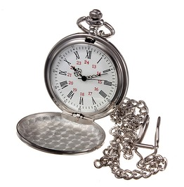 Sleek Silver Pop Open Quartz Pocket Watch