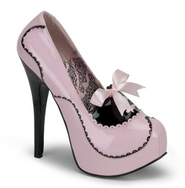Burlesque Pumps Bordello Teeze 01 Pink Pleaser