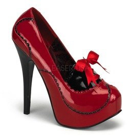 Burlesque Pumps Bordello Teeze 01 Red Pleaser
