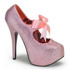 Burlesque Heels Bordello Teeze 04 R Pink Pleaser
