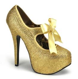 Burlesque Heels Bordello Teeze 04 R Gold Pleaser