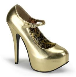 Burlesque Pumps Bordello Teeze 07 Gold Pleaser