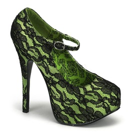 Burlesque Pumps Bordello Teeze 07 L Green Pleaser