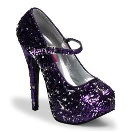 Burlesque Pumps Bordello Teeze 07 Sq Purple Pleaser