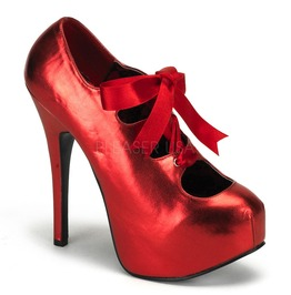 Burlesque Heels Bordello Teeze 09 Red Pleaser