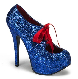 Burlesque Heels Bordello Teeze 10 G Blue Pleaser
