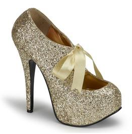 Burlesque Heels Bordello Teeze 10 G Gold Pleaser