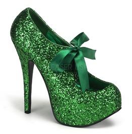 Burlesque Heels Bordello Teeze 10 G Green Pleaser