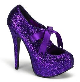 Burlesque Heels Bordello Teeze 10 G Purple Pleaser