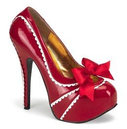 Burlesque Pumps Bordello Teeze 14 Red Pleaser