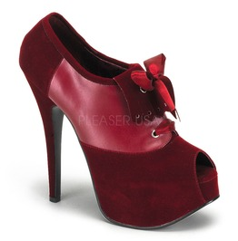 Burlesque Heels Bordello Teeze 16 Red Pleaser