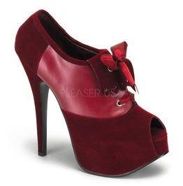 Burlesque Heels Bordello Teeze 16 Red Pleaser