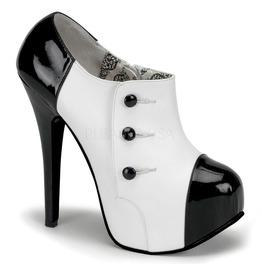 Burlesque Heels Bordello Teeze 20 White Pleaser