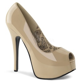 Burlesque Pumps Bordello Teeze 22 Beige Pleaser