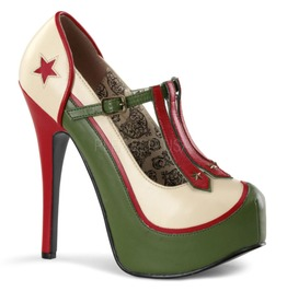 Burlesque Pumps Bordello Teeze 43 Green Pleaser