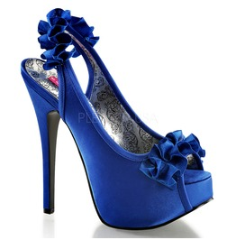 Burlesque Pumps Bordello Teeze 56 Blue Pleaser
