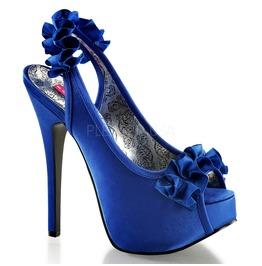 Burlesque Pumps Bordello Teeze 56 Blue Pleaser