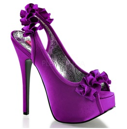 Burlesque Pumps Bordello Teeze 56 Purple Pleaser