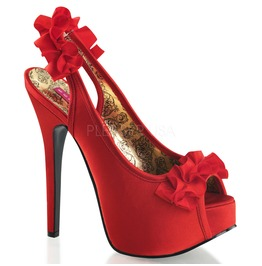 Burlesque Pumps Bordello Teeze 56 Red Pleaser