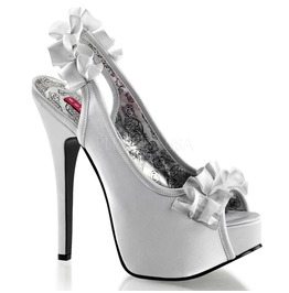 Burlesque Pumps Bordello Teeze 56 Silver Pleaser