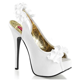 Burlesque Pumps Bordello Teeze 56 White Pleaser