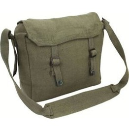Webbing Haversack Messenger Bag Green Highlander