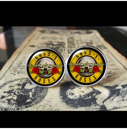 Guns 'n Roses Logo Logo Cuff Links Men, Weddings,Grooms, Groomsmen,Gifts,Dads,Graduations