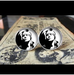 Guns 'n Roses Axl Rose Cuff Links Men, Weddings,Grooms, Groomsmen,Gifts,Dads,Graduations