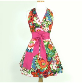 Flirty Flowers Full Circle Apron