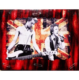 Sex Pistols Mixed Media Wood Collectors Piece