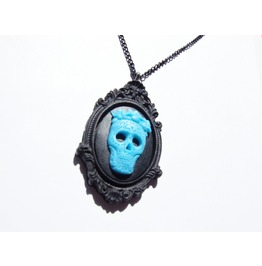 Day Dead Catrina Necklace / Resin Sugar Skull Necklace