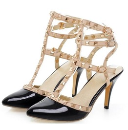 Rivets Straps High Heel Sandals
