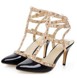 Rivets Straps High Heel Sandals