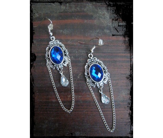 ornament_cabochon_earrings_chain_rhinestone_earrings_2.JPG