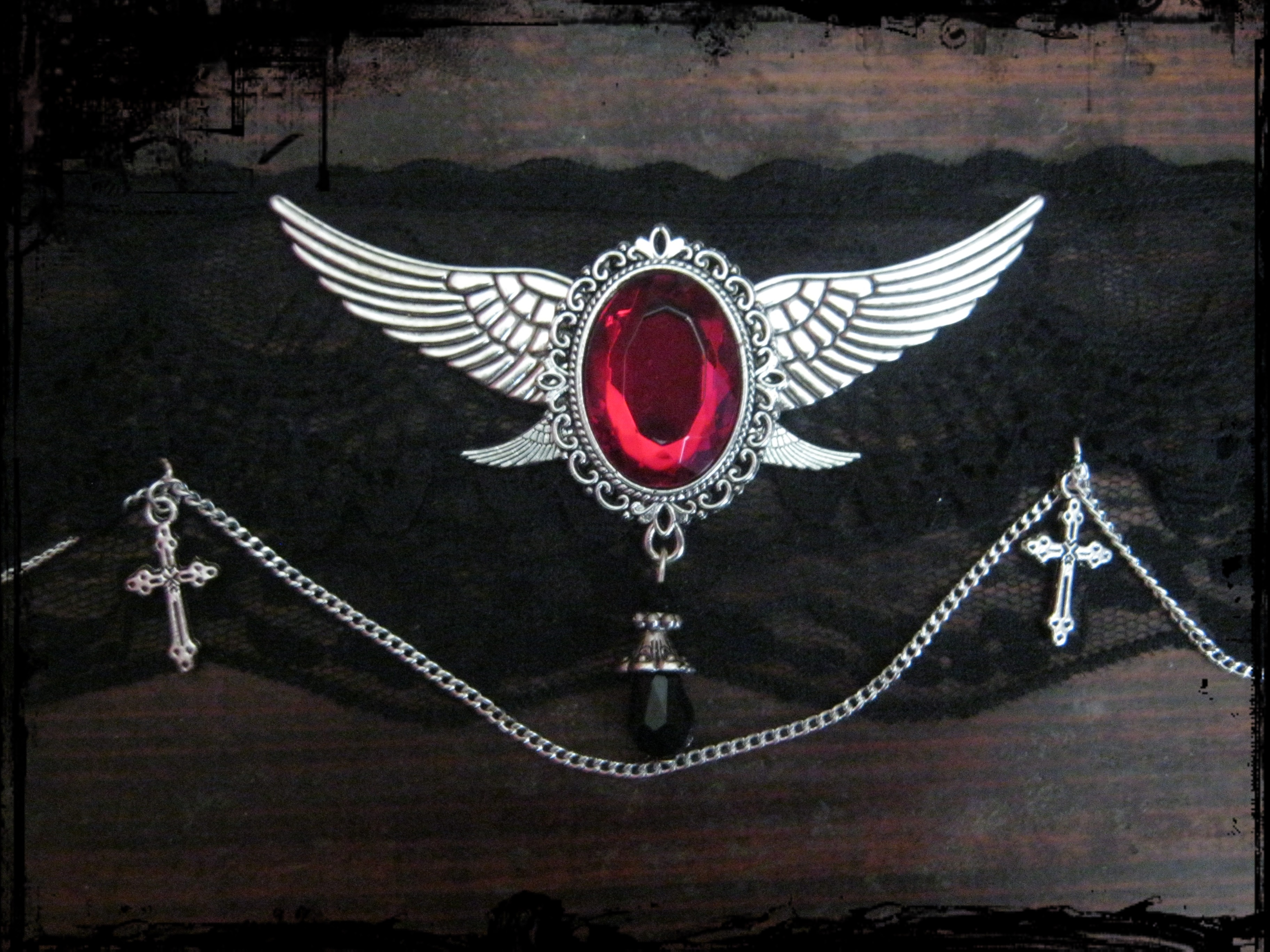 lace_choker_angel_wings_emblem_chain_crosses_necklaces_2.JPG