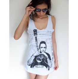 Johnny Cash Country Blue Rock Tank Top M
