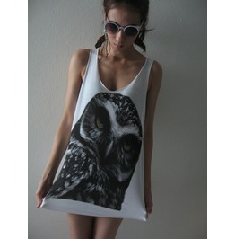 Cute Owl Animal Fashion Street Wear Pop Rock Tank Top