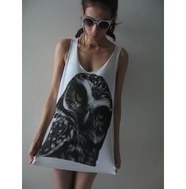 Cute Owl Animal Fashion Street Wear Pop Rock Tank Top