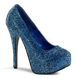 Burlesque Pumps Bordello Teeze 06 R Blue Pleaser