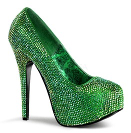 Burlesque Pumps Bordello Teeze 06 R Green Pleaser