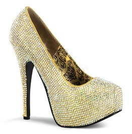 Burlesque Pumps Bordello Teeze 06 R Gold Pleaser