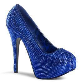 Burlesque Pumps Bordello Teeze 06 R Royal Blue Pleaser