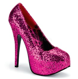 Burlesque Pumps Bordello Teeze 06 G Fuchsia Pleaser