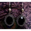 Gothic victorian silver filigree drop bead earrings earrings 2