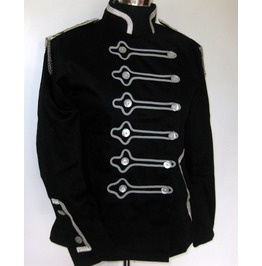 Kendall Military/Band Style Jacket Black/Silver