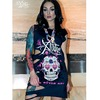 La xtatic long top sugar skull grey shirts 6