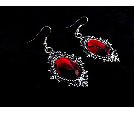gothic_victorian_steampunk_red_jewel_drop_silver_metal_filigree_earrings_earrings_2.JPG